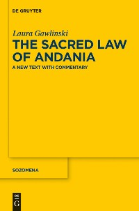 Cover The Sacred Law of Andania