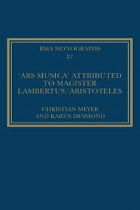 Cover 'Ars musica' Attributed to Magister Lambertus/Aristoteles