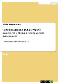 Cover Capital budgeting and alternative investment options. Working capital management