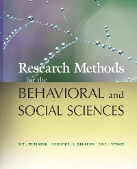 Cover Research Methods for the Behavioral and Social Sciences