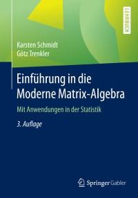 Cover Einfuhrung in die Moderne Matrix-Algebra