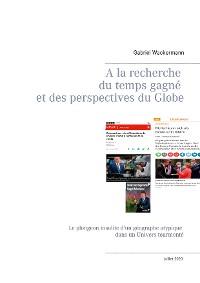 Cover A la recherche du temps gagne  et des perspectives du Globe