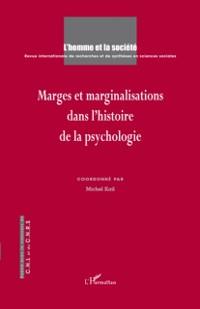 Cover Marges et marginalisations dans l'histoire de la psychologie