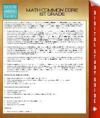 Cover Math Common Core 1St Grade