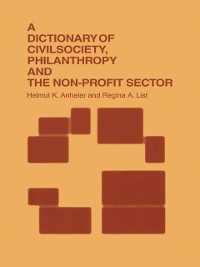 Cover Dictionary of Civil Society, Philanthropy and the Third Sector