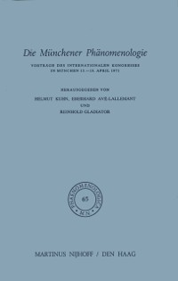 Cover Die Munchener Phanomenologie