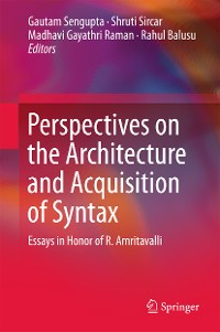 Cover Perspectives on the Architecture and Acquisition of Syntax