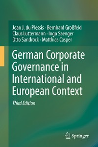 Cover German Corporate Governance in International and European Context