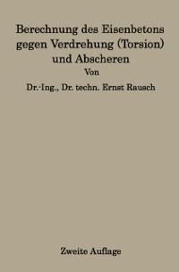 Cover Berechnung des Eisenbetons gegen Verdrehung (Torsion) und Abscheren