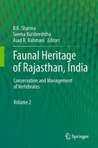 Cover Faunal Heritage of Rajasthan, India