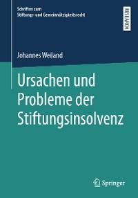 Cover Ursachen und Probleme der Stiftungsinsolvenz