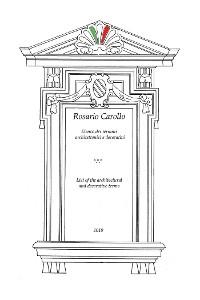 Cover Elenco dei termini architettonici e decorativi - List of the architectural and decorative terms