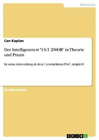 """Cover Der Intelligenztest """"I-S-T 2000R"""" in Theorie und Praxis"""