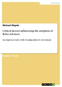Cover Critical factors influencing the adoption of Robo-Advisors