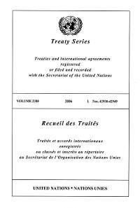 Cover Treaty Series 2380/Recueil des Traités 2380