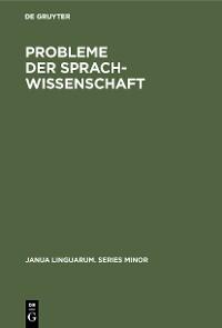 Cover Probleme der Sprachwissenschaft