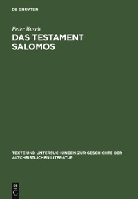 Cover Das Testament Salomos