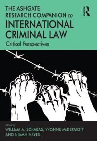 Cover Ashgate Research Companion to International Criminal Law