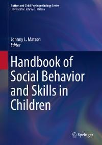 Cover Handbook of Social Behavior and Skills in Children