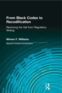 Cover From Black Codes to Recodification
