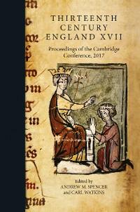 Cover Thirteenth Century England XVII
