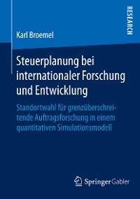 Cover Steuerplanung bei internationaler Forschung und Entwicklung