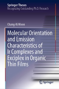 Cover Molecular Orientation and Emission Characteristics of Ir Complexes and Exciplex in Organic Thin Films