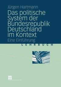 Cover Das politische System der Bundesrepublik Deutschland im Kontext