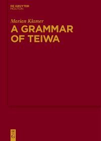 Cover A Grammar of Teiwa