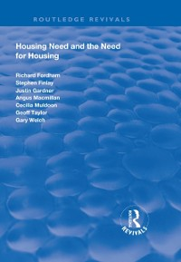 Cover Housing Need and the Need for Housing