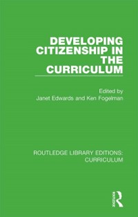 Cover Developing Citizenship in the Curriculum