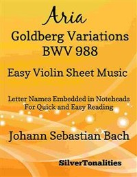 Cover Aria Goldberg Variations BWV 988 Easy Violin Sheet Music