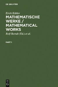 Cover Mathematische Werke / Mathematical Works