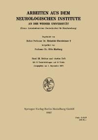 Cover Arbeiten aus dem Neurologischen Institute an der Wiener Universitat