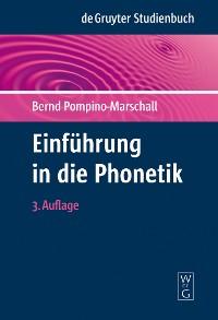 Cover Einführung in die Phonetik