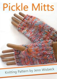 Cover Pickle Mitts Wrist Warmer Knitting Pattern