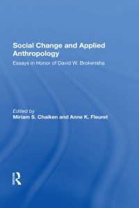 Cover Social Change And Applied Anthropology