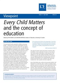 Cover Every Child Matters and the Concept of Education