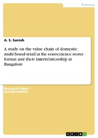 Cover A study on the value chain of domestic multi brand retail in the convenience stores format and their interrelationship at Bangalore