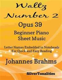 Cover Waltz Number 2 Opus 39 Beginner Piano Sheet Music
