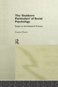Cover Stubborn Particulars of Social Psychology