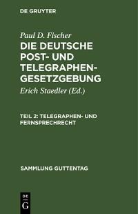 Cover Telegraphen- und Fernsprechrecht