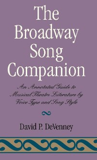 Cover The Broadway Song Companion
