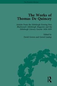 Cover Works of Thomas De Quincey, Part I Vol 6