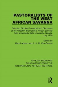 Cover Pastoralists of the West African Savanna