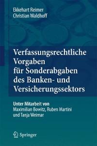 Cover Verfassungsrechtliche Vorgaben für Sonderabgaben des Banken- und Versicherungssektors