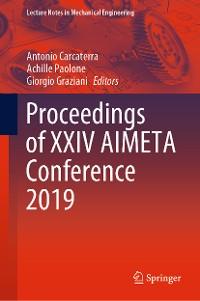 Cover Proceedings of XXIV AIMETA Conference 2019