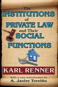 Cover Institutions of Private Law and Their Social Functions