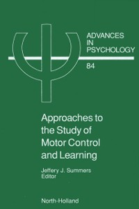 Cover Approaches to the Study of Motor Control and Learning