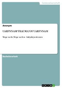 """Cover UARFNNAM""""FRAUMANN""""UARFNNAM"""